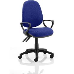 Luna II Lever Task Operator Chair Serene Colour With Loop Arms Ref KCUP0937