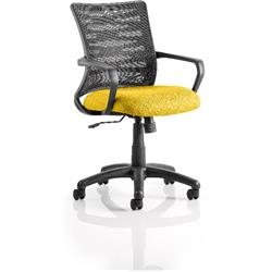 Vortex Task Operator Chair Sunset Colour Seat Fabric With Arms Ref KCUP0605