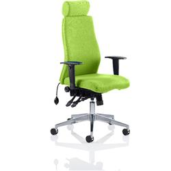 Onyx Posture Chair Swizzle Colour With Headrest With Arms Ref KCUP0434