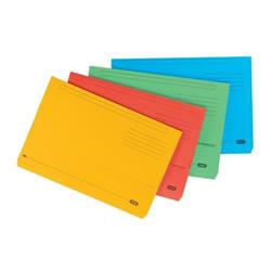 Elba Bright Manilla Document Wallet 320gsm Capacity 32mm Foolscap Assorted Ref 100090138 [Pack 25]