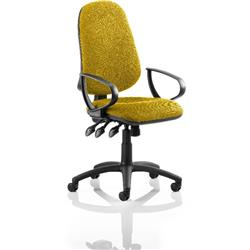 Eclipse III Lever Task Operator Chair Sunset Colour With Loop Arms Ref KCUP0867
