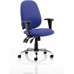Lisbon Task Operator Chair Serene Colour With Arms Ref KCUP0331