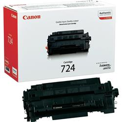 Canon 724 (Black) Toner Cartridge (Yield 6,000 Pages)