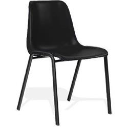 Polly Stacking Visitor Chair Black Polypropylene Without Arms Ref BR000202