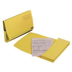 Elba Document Wallet Full Flap 260gsm Capacity 32mm Foolscap Yellow Ref 100090258 - Pack 50