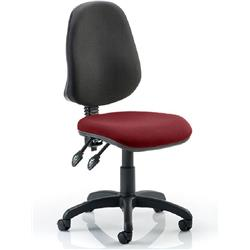 Eclipse II Task Operator Chair Chilli Colour Seat Fabric Without Arms Ref KCUP0238