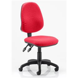 Eclipse II Task Operator Chair Cherry Colour Fabric Without Arms Ref KCUP0225