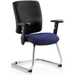 Chiro Task Operator Chair Medium Cantilever Serene Colour Seat With Arms Ref KCUP0139