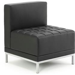 Infinity Visitor Modular Straight Back Sofa Chair Black Bonded Leather Ref BR000200