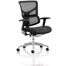 Ergo-Dynamic Posture Chair Black Frame Black Mesh With Arms Ref PO00050