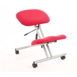 Kneeling Stool Silver Frame Cherry Colour Ref KCUP0321
