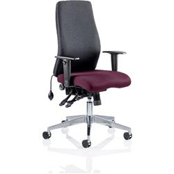 Onyx Posture Chair Without Aubergine Headrest Bespoke Colour Seat With Arms Ref KCUP0432