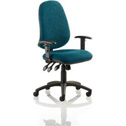Eclipse XL III Lever Task Operator Chair Kingfisher Colour With Arms Ref KCUP0894