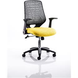 Relay Task Operator Chair Sunset Colour Silver Back With Arms Ref KCUP0517