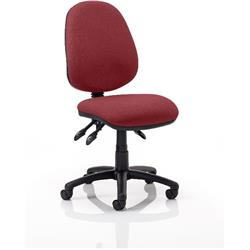 Luna III Lever Task Operator Chair Chilli Colour Without Arms Ref KCUP0358