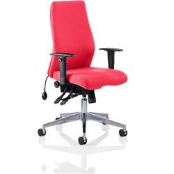 Onyx Posture Chair Cherry Colour Without Headrest With Arms Ref KCUP0441