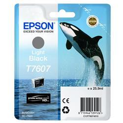 Epson T7607 (25.9 ml) Light Black Ink Cartridge for SureColor SC-P600 Printers