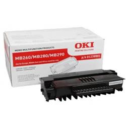 OKI Standard Capacity Black Toner Cartridge (Yield 3,000 Pages) for MB260/280/290 Mono Multi Function Printers