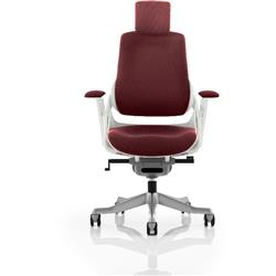 Zure Executive Chair Fully Chilli Colour With Arms Ref KCUP0694