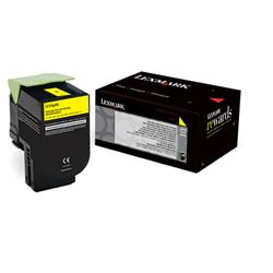 Lexmark 800S4 Standard Yield (2000 Pages) Toner Cartridge (Yellow)
