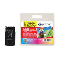 Jet Tec Canon Compatible CL-511 (12ml) Remanufactured Colour Inkjet Cartridge (Cyan, Magenta, Yellow)