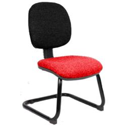 Luna Visitor Chair Cantilever  Flame Seat Without Arms Ref KCUP0377