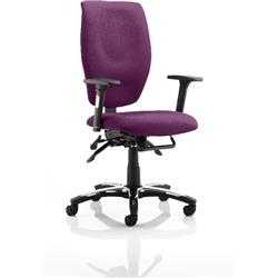 Sierra Task Operator Chair Purple Colour Fabric With Arms Ref KCUP0783