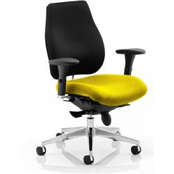 Chiro Plus Posture Chair Sunset Colour Seat With Arms Ref KCUP0157
