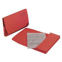 Elba Document Wallet Full Flap 260gsm Capacity 32mm Foolscap Red Ref 100090257 - Pack 50