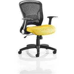 Zeus Task Operator Chair Sunset Colour Seat Fabric With Arms Ref KCUP0709