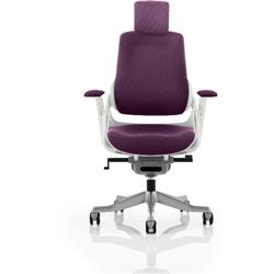 Zure Executive Chair Fully Purple Colour With Arms Ref KCUP0696