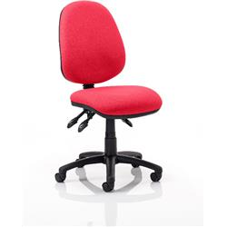 Luna III Lever Task Operator Chair Cherry Colour Without Arms Ref KCUP0353