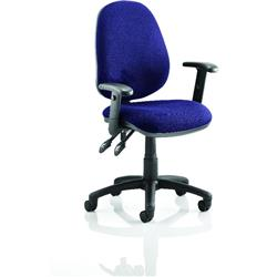 Luna II Lever Task Operator Chair Serene Colour With Height Adjustable Arms Ref KCUP0929
