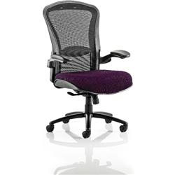 Houston Task Operator Chair Mesh Back Purple Fabric Seat With Arms Ref KCUP0997