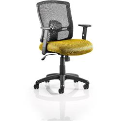 Portland Task Operator Chair Sunset Colour Seat With Arms Ref KCUP0477
