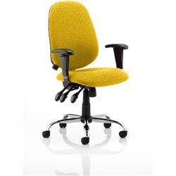 Lisbon Task Operator Chair Sunset Colour With Arms Ref KCUP0333