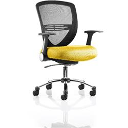 Iris Task Operator Chair Sunset Colour Seat With Arms Ref KCUP0301