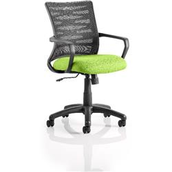 Vortex Task Operator Chair Swizzle Colour Seat Fabric With Arms Ref KCUP0602