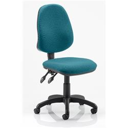 Eclipse II Task Operator Chair Kingfisher Colour Fabric Without Arms Ref KCUP0231