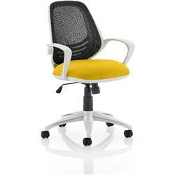 Atom Task Operator Sunset Colour Seat With Arms Ref KCUP0061