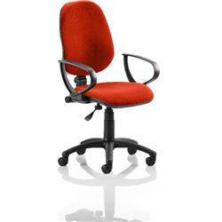 Eclipse I Lever Task Operator Chair Pimento Colour With Loop Arms Ref KCUP0809