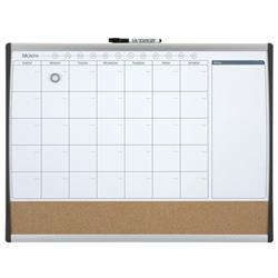 Rexel Calendar Combination Board Magnetic Drywipe and Cork Arched Frame W585xH430mm Ref 1903813