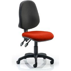 Eclipse II Task Operator Chair Pimento Colour Seat Fabric Without Arms Ref KCUP0236
