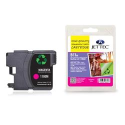 Jet Tec Brother Compatible LC1100M (5.5ml) Remanufactured Inkjet Cartridge