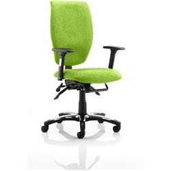 Sierra Task Operator Chair Swizzle Colour Fabric With Arms Ref KCUP0777