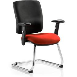 Chiro Task Operator Chair Medium Cantilever Pimento Colour Seat With Arms Ref KCUP0140