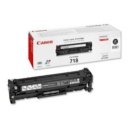 Canon 718 (Black) Toner Cartridge (Yield 3,400 Pages) Pack of 2 (REF 2662B005AA)