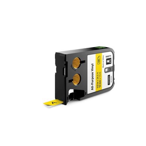 Foto Etichette XTL in vinile Dymo - 12 mm - nero/giallo - 1868771 Etichette e Nastri