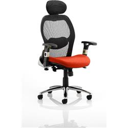 Sanderson Executive Chair Pimento Colour Seat With Arms Ref KCUP0540