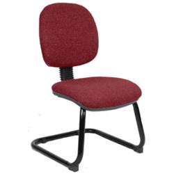 Luna Visitor Chair Cantilever Chilli Colour Without Arms Ref KCUP0374